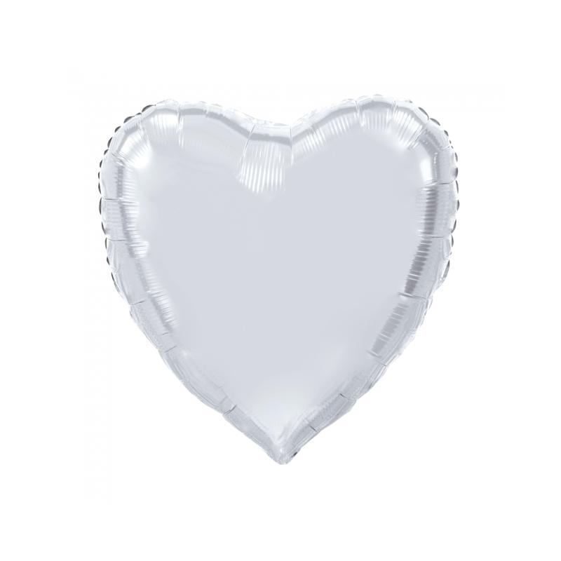 Giant Heart folie ballong Silver 92 cm
