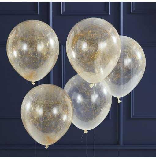 Pop The Bubbly-Balloons - Angel Hair - Gold Watertrade-Hem