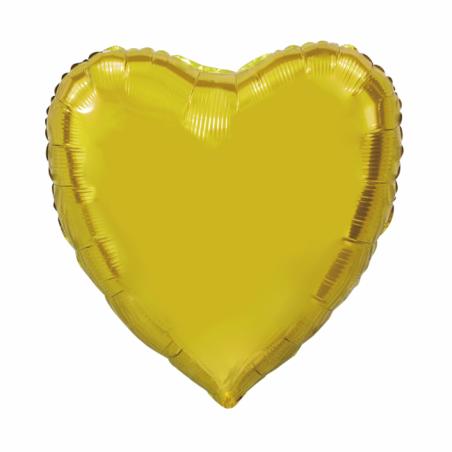 Giant Heart folie ballong Guld 92 cm - 102