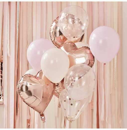 Mix It Up - Rose Gold and Blush Balloon Watertrade-Hem