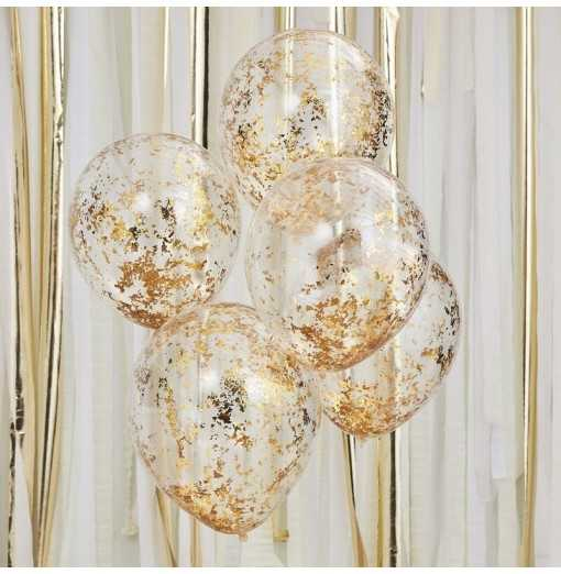 Mix It Up - Gold Foil Confetti Filed Balloons Watertrade-Hem