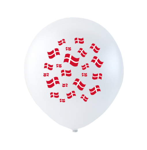 Ballonger med flaggor 10 st.