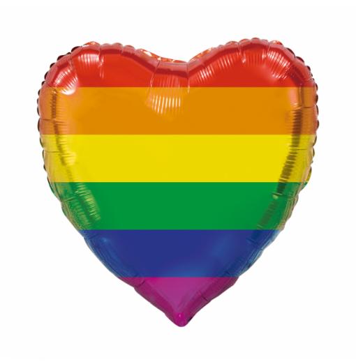 Giant Heart folie ballong regnbåge 92 cm Hjärtat Ballonger