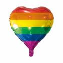 Rainbow folie ballong Hjärtat Ballonger