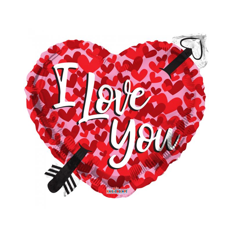 Jag älskar dig folie ballong - hjärtan