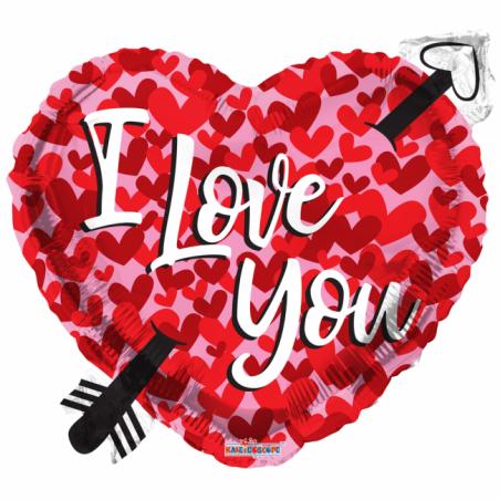 Jag älskar dig folie ballong - hjärtan - 546