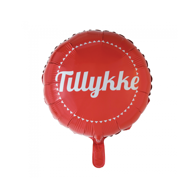 Grattis folie ballong