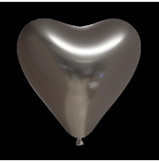 """Hjärtballonger 12 """"krom 100 st Hjärtat Ballonger"""