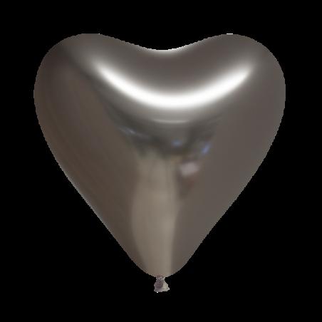 """Hjärtballonger 12 """"krom 100 st - 591"""