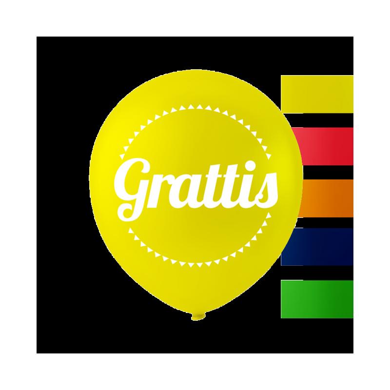 """""""Grattis"""" ballonger 10 '' 10 st"""
