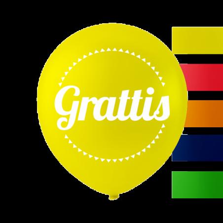 """""""Grattis"""" ballonger 10 '' 10 st - 653"""