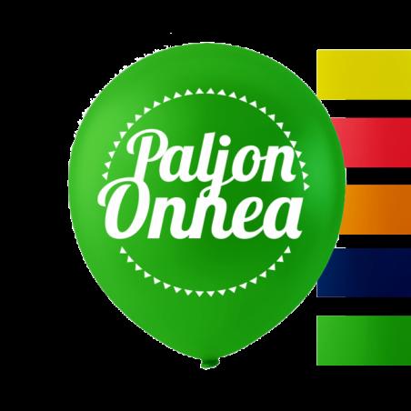 """""""Paljon Onnea"""" ballonger 10 '' 10 st - 657"""