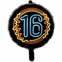 "Svart neonfolie ballong 18 "" Premium Ballonger"