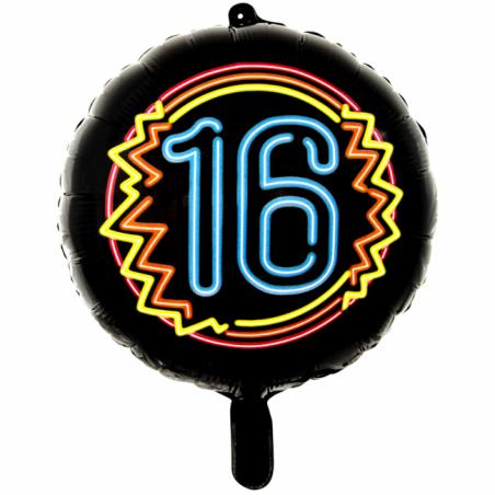 """Svart neonfolie ballong 18 """" - 689"""