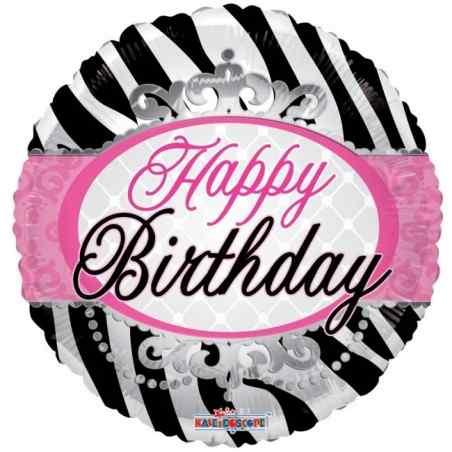 """Grattis på födelsedagen 18 """"zebrabänder - 698"""
