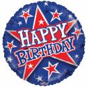 """Grattis på födelsedagen 18 """"blå och röd Födelsedag"""