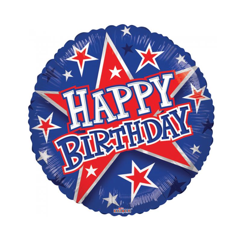 """Grattis på födelsedagen 18 """"blå och röd"""