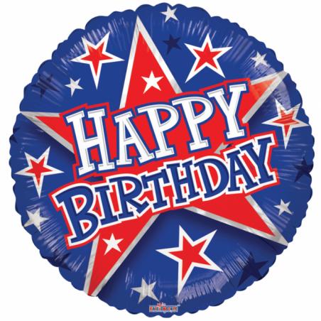 """Grattis på födelsedagen 18 """"blå och röd - 700"""