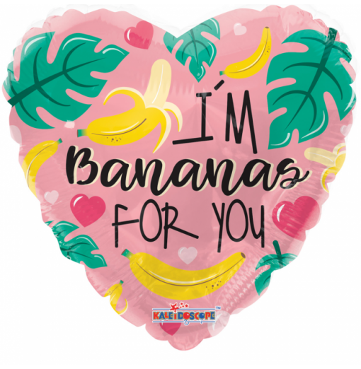 """Jag är bananer för dig 18 """" Hjärtat Ballonger"""
