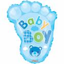 """Babyfot pojke 18 """" Folie ballonger"""