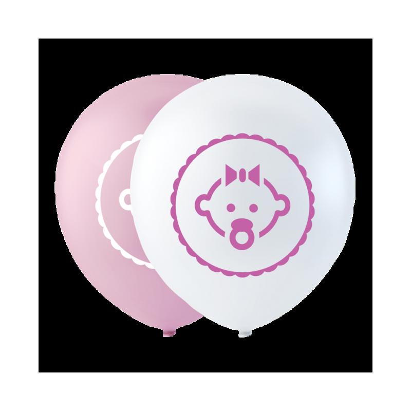 """Dotter ballong rosa 10 """""""