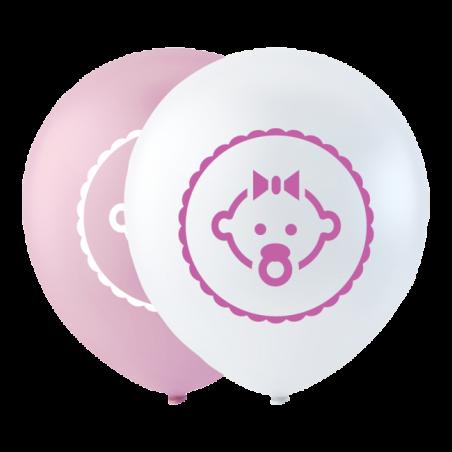 """Dotter ballong rosa 10 """" - 729"""