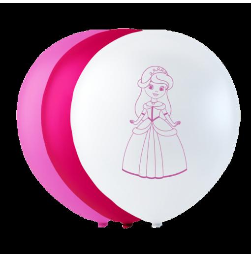 """Prinsessballonger 10 """" Ballonger med tryck"""