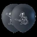 """Piratballonger 10 """" Ballonger med tryck"""