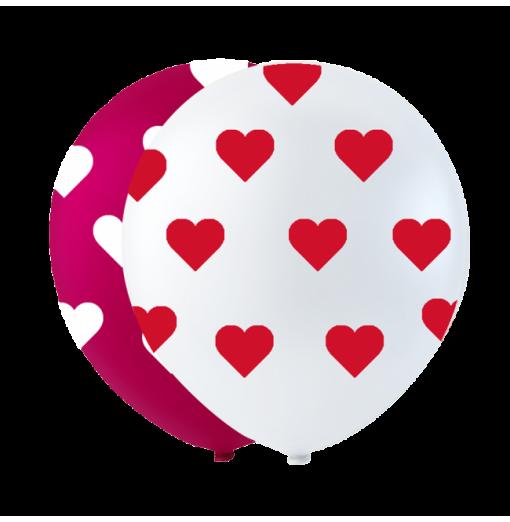 """Små hjärtballonger 10 """" Ballonger med tryck"""