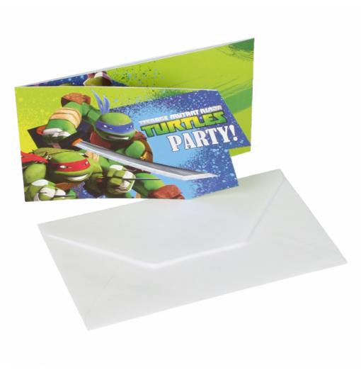 Inbjudningar med Ninja Turtles Inbjudningar