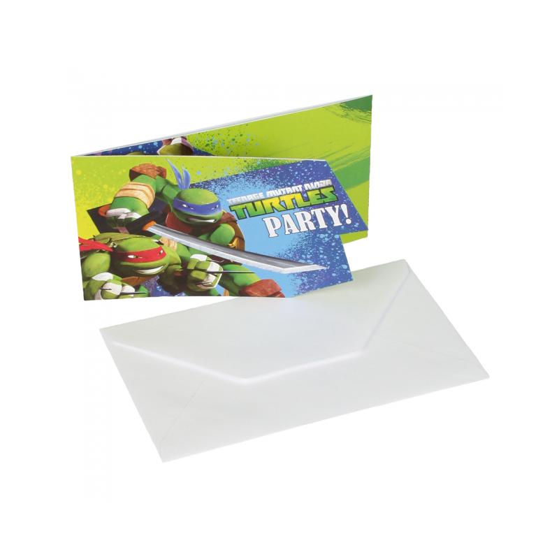 Inbjudningar med Ninja Turtles