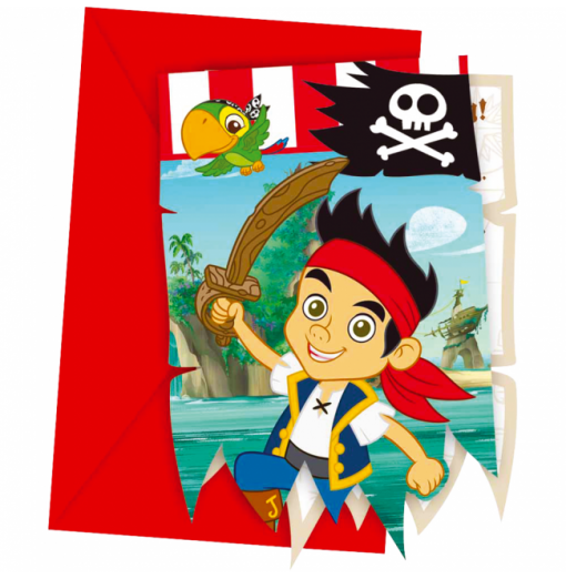Inbjudningar med Jake och piraterna Inbjudningar