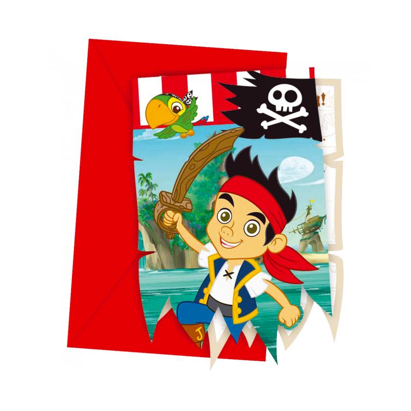 Inbjudningar med Jake och piraterna