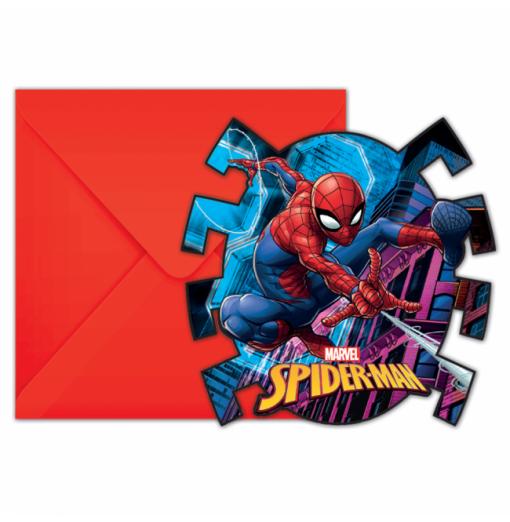 Inbjudningar med Spiderman Inbjudningar