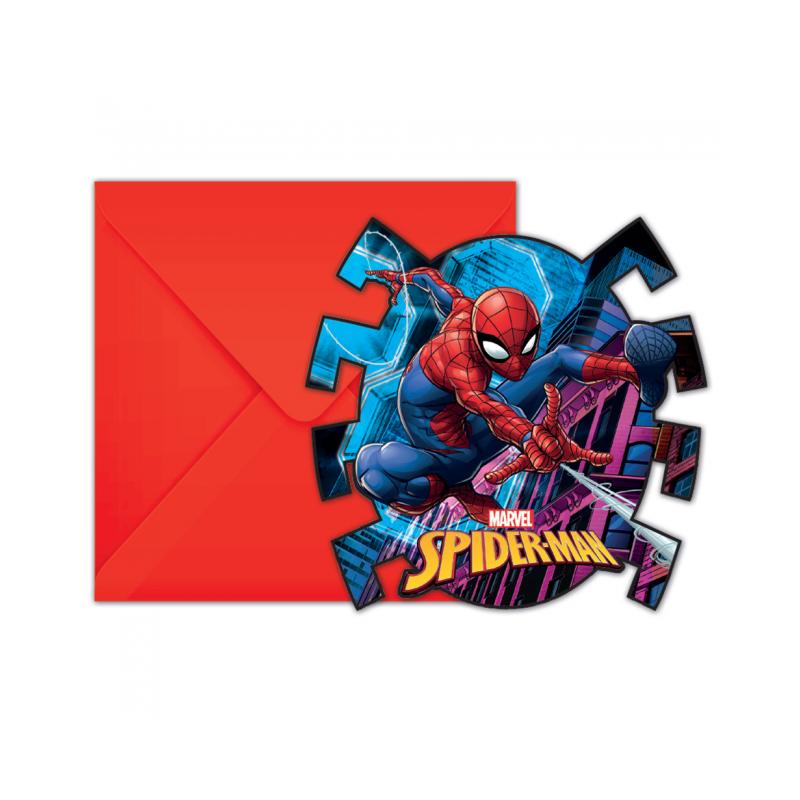 Inbjudningar med Spiderman