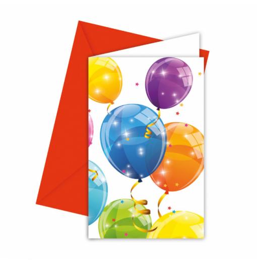 Inbjudningar med ballonger Inbjudningar