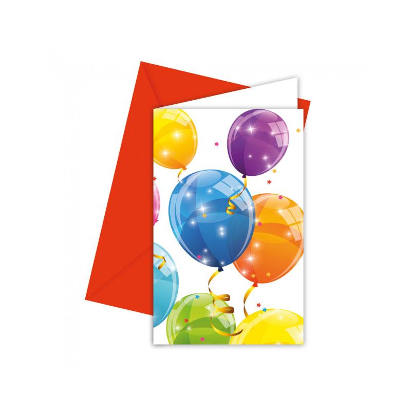 Inbjudningar med ballonger