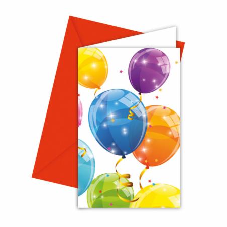 Inbjudningar med ballonger - 764