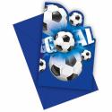 Inbjudningar med fotboll Inbjudningar
