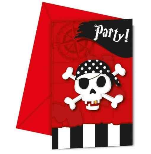 Inbjudningar med pirater Inbjudningar