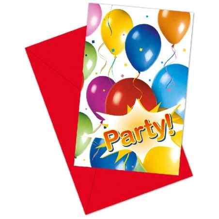 Inbjudningar med ballonger och fest - 769
