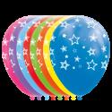 """Stjärnballonger 12 """" Ballonger med tryck"""