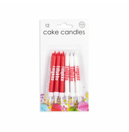 "12 tårtljus ""Grattis"" Ljus för tårta"