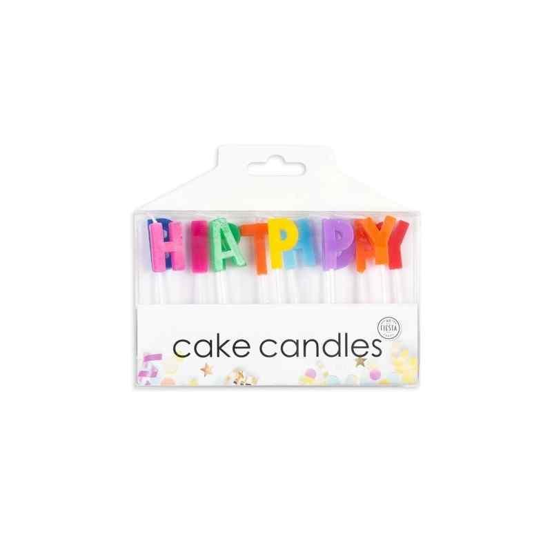Tårtljus med bokstäver för Grattis på födelsedagen
