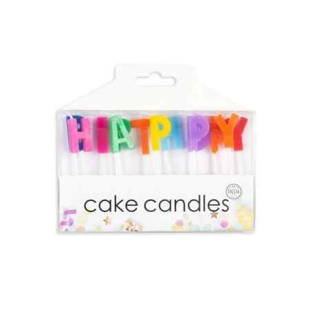 Tårtljus med bokstäver för Grattis på födelsedagen - 780