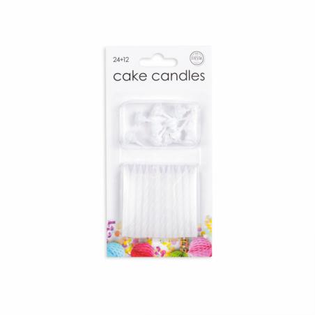 24 tårtljus i vitt - 783