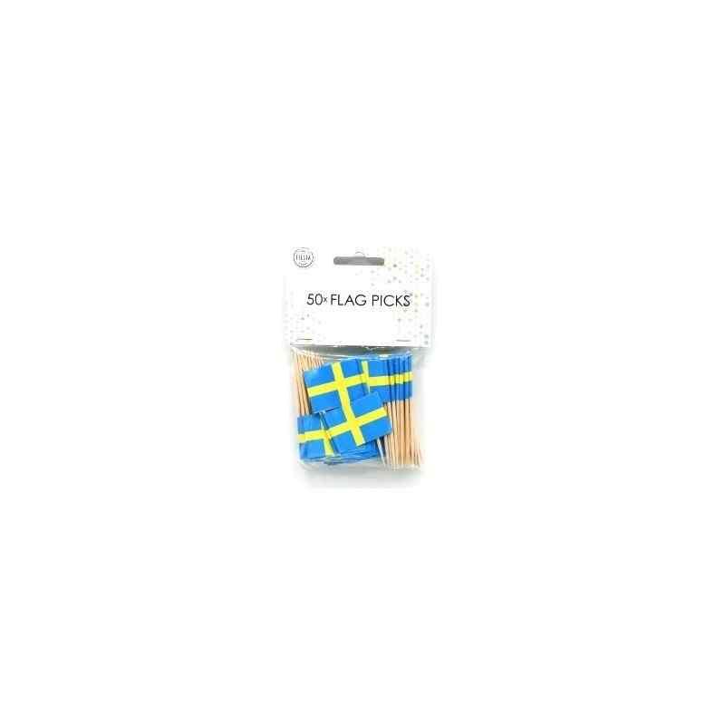 50 små flag Sverige