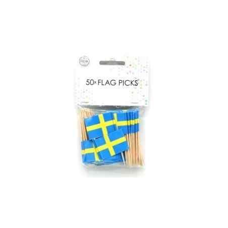 50 små flag Sverige - 877