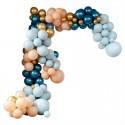 Stor Luksus Ballonbue - Blå/Guld Ballongbågar