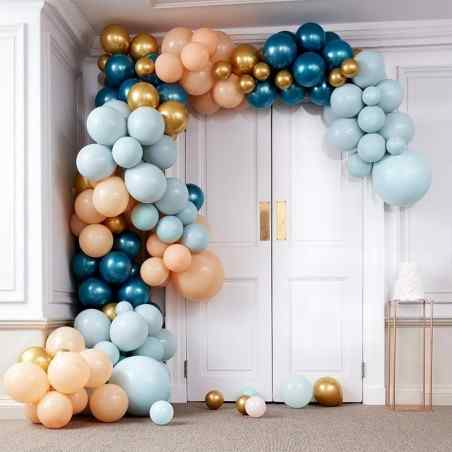 Balloon Arches - Balloon Arch - Large - Greens & Gold Chrome - 897